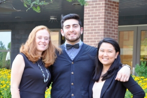 Katherine Morris with UMBC Social Work students Denis Escolero and Christina Huynh