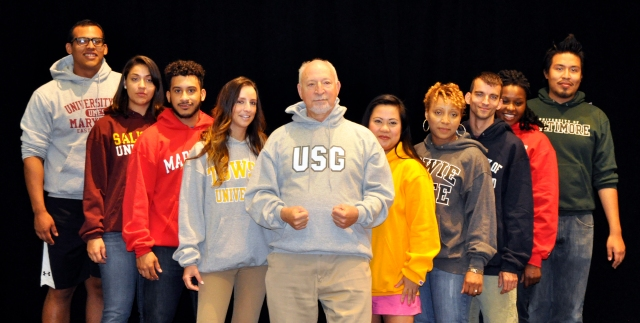 Dr. Stewart Edelstein posing with students