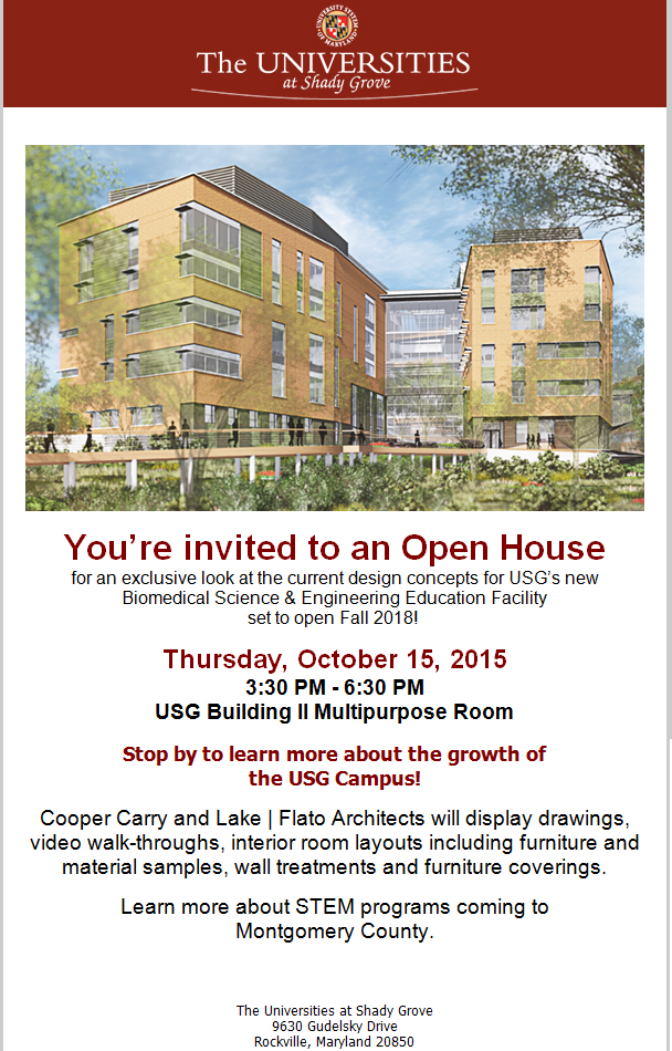 Biomedical Sciences and Engineering Education (BSE) Facility Open House Invitation
