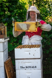 Patti with bees