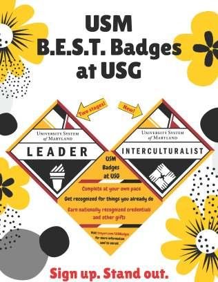 USM BEST Badges at USG